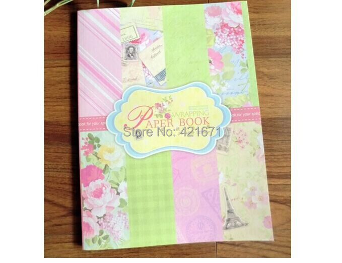 2015 exclusive diy Gift Wrapping Paper Book 32sheet, colorful blooming flower Scrapbooking pack Set,origami,paper craft - ZowColor jewellry store