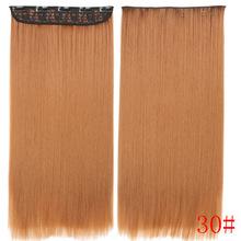 Мисс парик синтетический зажим в Химическое Наращивание волос 22 дюймов 55 см длинные прямые 5 клип парики Жаростойкие чёрный; коричневый Цве...(China)