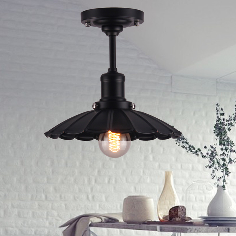 Vintage loft american style celing lamps iron country - Small ceiling light fixtures ...