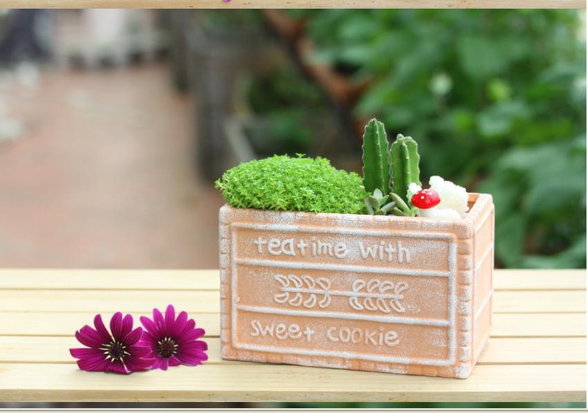C ramique porcelaine planteur bonsai plante en pot succulentes fleur poterie contenant int rieur - Decoration jardin exterieur poterie ...