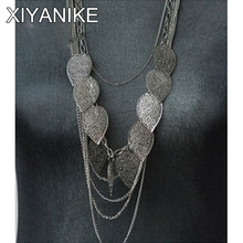 Buy 2014 New!! HOT!!!European American style, leaves multilayer Bohemia long necklace XY-N25 N30 N31 for $1.04 in AliExpress store