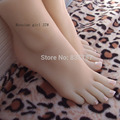 22cm 37 Silicone pussy fetish russian girl fake foot Inner Bone Inside Toe Move Freely Feet