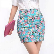 Buy Vintag 2017 Office Lady Skirt Summer Women High Waist Elastic OL Short Mini Skirts Floral Sexy Pencil Skirt Female Bodycon Skirt for $3.60 in AliExpress store