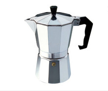 Aluminum Stovetop Espresso Maker Classic Moka Coffee Pot Espresso Percolators Moka Coffee Maker (Silver)(China (Mainland))