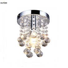 Hot Sale Modern Crystal Light Ceiling Lustre Crystal Light Fixture Aisle Stair Hallway Lighting Porch corridor light(China (Mainland))