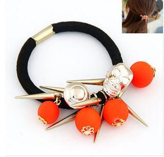 2014 New Arrive send random Fashion Hair Elastic Cord Women's Headwear Ladies Rubber Band Hair Accessory Free Shipping FD442(China (Mainland))