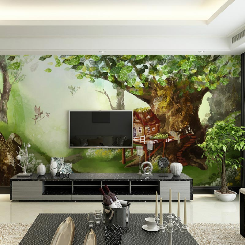 Buy larger landscape window mural paper background for Custom mural painting