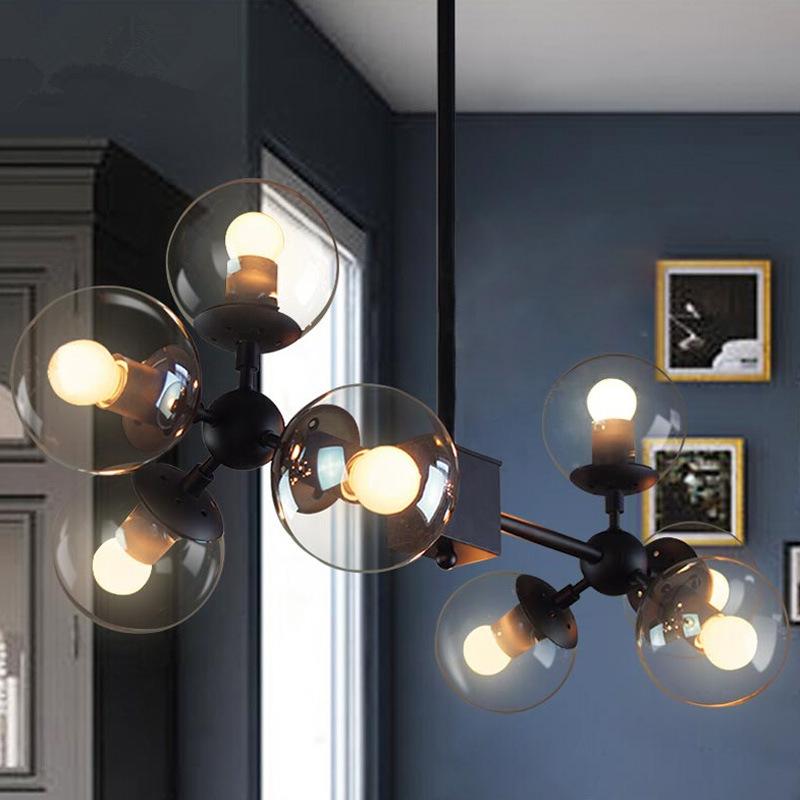 4 8 12 16 head led modo chandelier magic ball dna light for Dining room globe lighting
