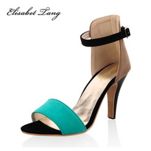 Size 33-43 Plus Small Size Women Sandals 2015 Summer Sandals Ankle Strapy Open Toe Lady High Heels Gladiator Sandals Rome Shoes(China (Mainland))