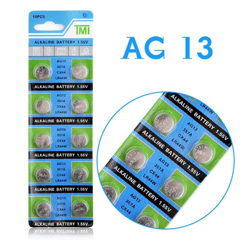 Free shipping Hot selling 10 Pcs AG13 LR44 357A S76E G13 Button Coin Cell Battery Batteries 1.55V Alkaline EE6214<br><br>Aliexpress