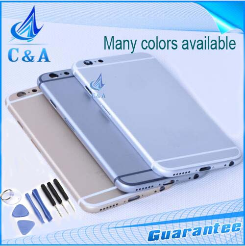 replacement parts 4.7 inch iphone 6 back housing 6g metal alloy cover buttons battery door 1 piece - C&A Electronics Limited store