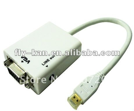 Free Shipping Micro HDMI to Vga with Audio Adapter HD2V03