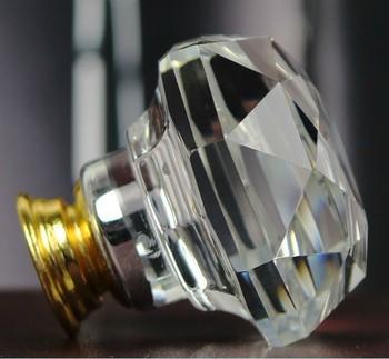 New 1pc 60mm K9 DIY Modern Clear Crystal Cabinet Knob Drawer Pulls Handle Kitchen Door Wardrobe Hardware