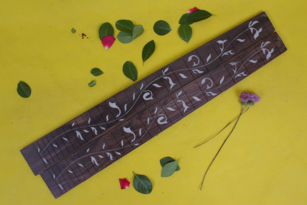 Guitar Accessories  1  x  25.5electric   Guitar Fretboard electric guitar  rose Wood Fretboard Parts 00-44# inlay<br><br>Aliexpress
