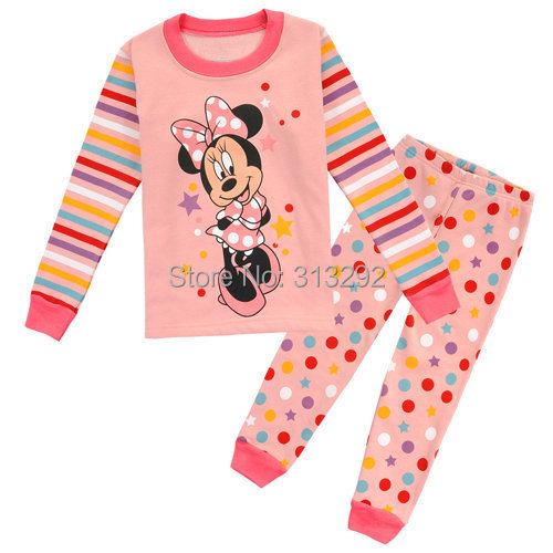 JB-1, Minnie Mouse, Baby/Children pajamas, 100% Cotton long sleeve sleepwear/clothing sets for 8-12Y<br><br>Aliexpress