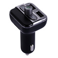 New Brand Multifunction Bluetooth Hands free Car kit FM Transmitter 3 4A Car Charger ME3L