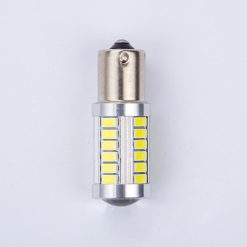 2pcs 33smd 5630 5730 led 1156 BA15S P21W Car Tail Bulb Brake Lights auto Reverse Lamp Daytime Running Light red white yellow 2X(China (Mainland))