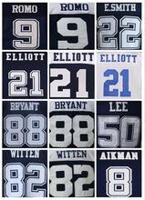 SexeMara Mens High Quality 100% Stitched Color Blue Thanksgiving White Elite Throwback Jerseys(China (Mainland))