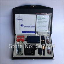 Free shipping 1case tattoo machine kit-blue sunshine permanent makeup machine kit with Battery box(China (Mainland))