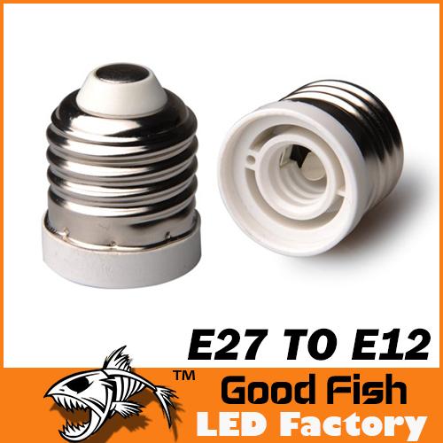 Здесь можно купить  100PCS E27 to E12 Adapter Base LED Light Screw Light Lamp Bulb Socket Adapter Converter Free Shipping  Свет и освещение