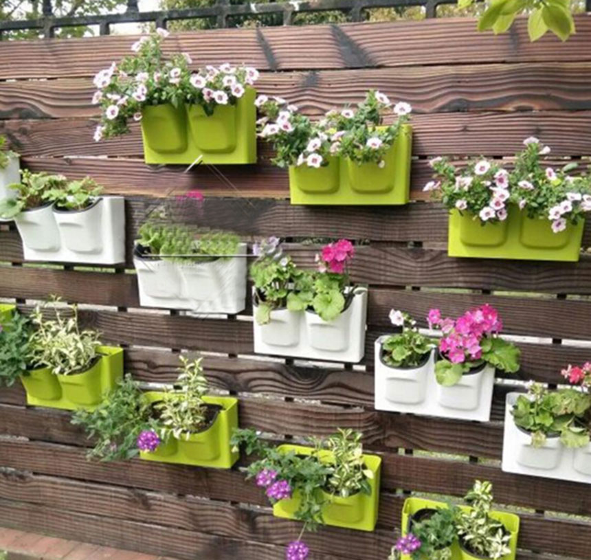 Bold design ideas wall hanging flower pots with 26 5x16cm pl.
