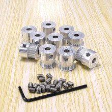10pcs/lot Alumium GT2 Timing Pulley 17 teeth Bore 5mm for width 6mm belt and 3D printer CNC stepper motor Free shipping(China (Mainland))