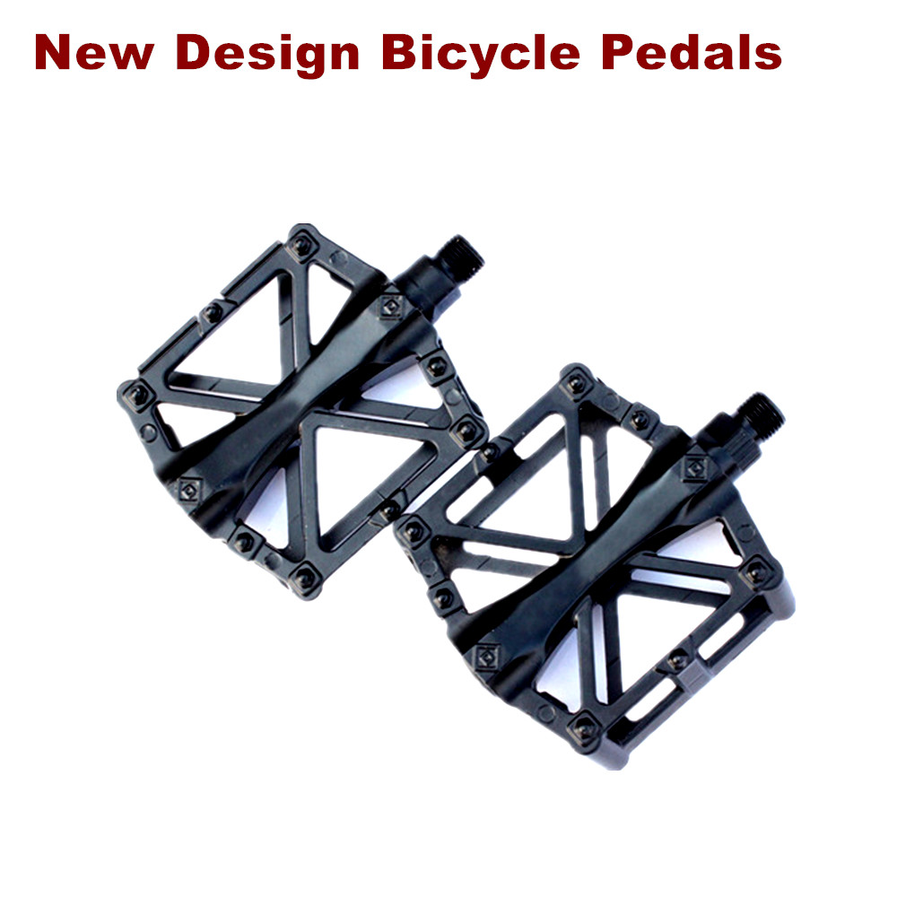 Sticker design for mountain bike - New Design Mountain Bike Bicycle Pedals Nylon Fiber 4 Colors Big Foot Road Bike Bearing Pedals Bicycle Bike Parts Free Shipping