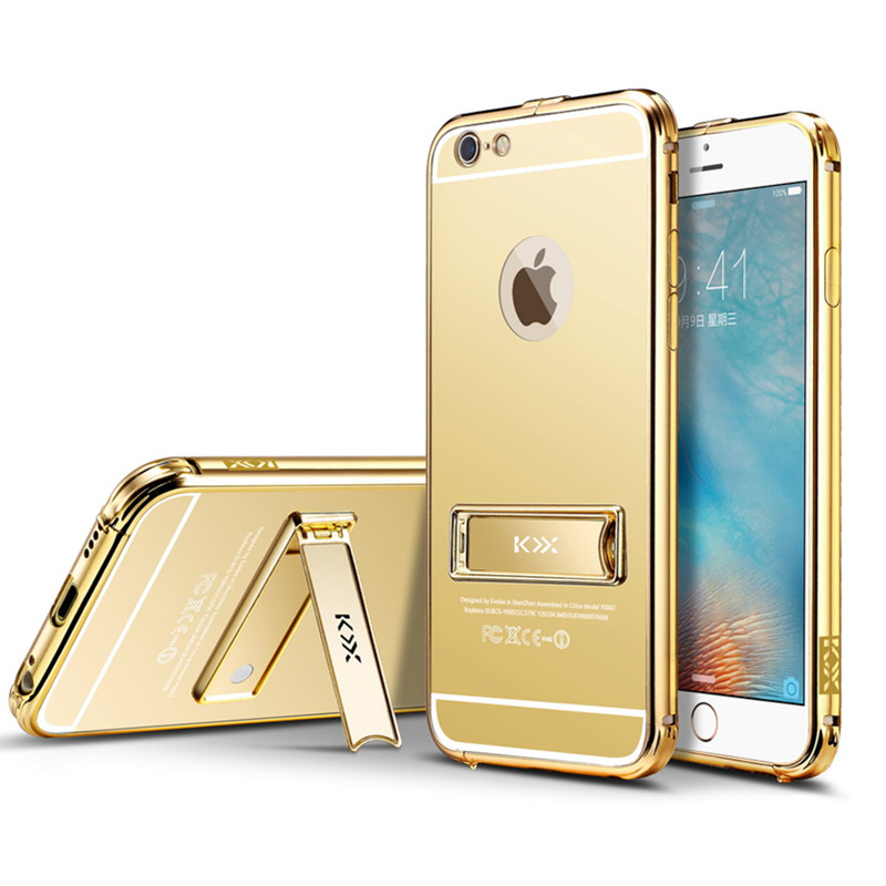 For apple iphone 6 6splus 6s luxury aluminum frame pc for Coque iphone 6 miroir
