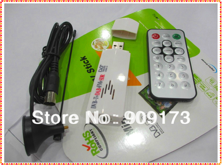 Free Shipping Wholesale 6pcs/lot  Digital TV Stick FM+DAB USB DVB-T RTL2832U+FC0013B Support SDR Hot