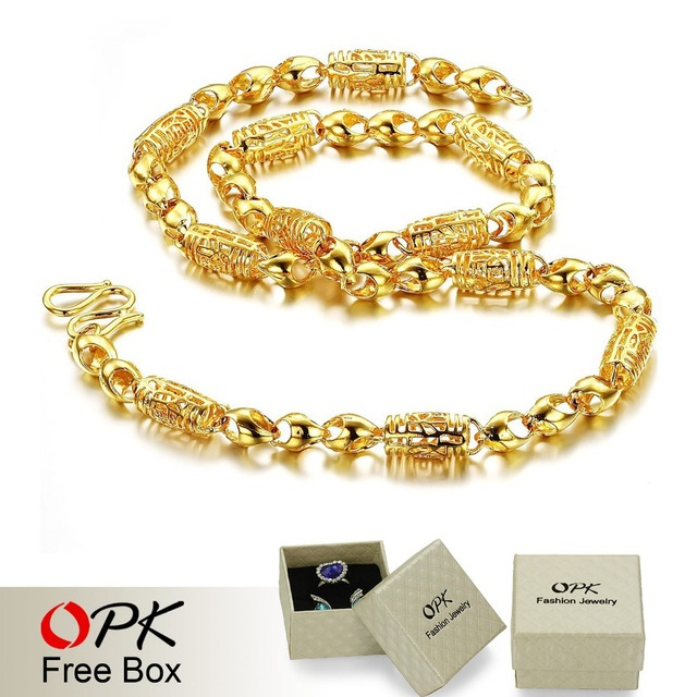 OPK JEWELLERY new arrival 18K Gold plated Necklace cool design attractive unisex jewelry 609
