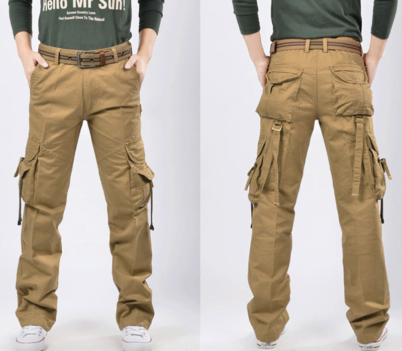 Mens Military Style Cargo Pants