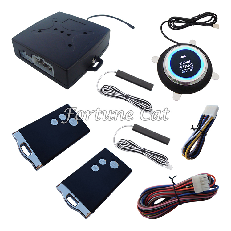 Smart PKE Car Alarm Passive Keyless Entry Car Alarm System Remote Engine Start Push Start Button Auto Lock Unlock(China (Mainland))