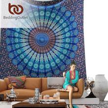 BeddingOutlet Vanitas Mandala Tapestry Moroccan Indian Printed Decorative Wall Tapestries White 140x210cm Drop Shipping(China (Mainland))