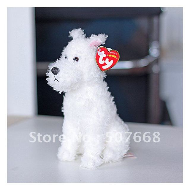 "7.5"" SNOWY The Adventures of Tintin White Dog SNOWY Plush toy Dogs Figures Dolls New Arrival"