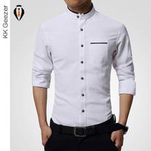 Alta calidad Mens visten camisa de manga larga de algodón para hombre de negocios banquetes marca de moda camisas formales delgado hombres ocasionales camisas suaves(China (Mainland))