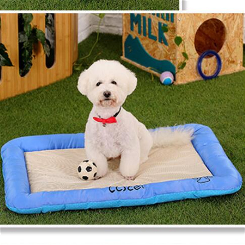Free shipping 2016 new summer explosion models cool ice silk summer kennel dog house pet kennel dog mat pet supplies(China (Mainland))
