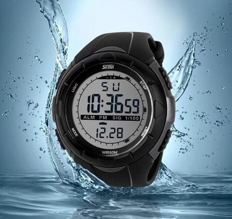 Skmei 1025 Brand Men LED Digital Military Watch Outdoor 5ATM 50M Dive Swim Dress Sport Watches