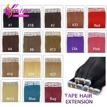 100% Brazilian Remy Tape Hair Extensions Strong Tape In Human Hair Extensions 20pcs/package For Fashions Women Hair Extensions(China (Mainland))