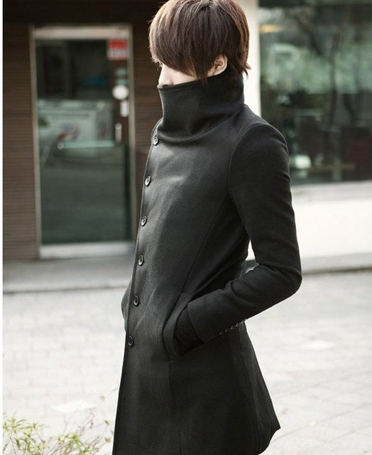 Collection Long Black Trench Coat Men Pictures - Reikian