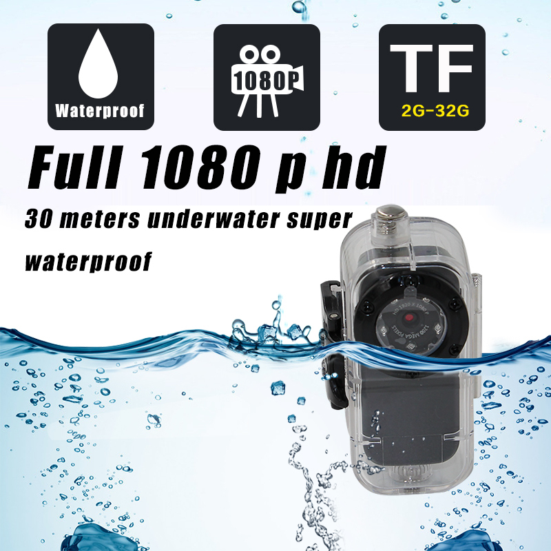 Full-HD 1920*1080P Sport Helmet Mini DV Voice Activated Digital Action Camera IR Night Vision with Diving 30m Waterproof Case S1(China (Mainland))