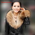Real fur scarf Big Size Luxury Genuine Top Quality Natural Raccoon Fur Hood Trimming Collar Scarves