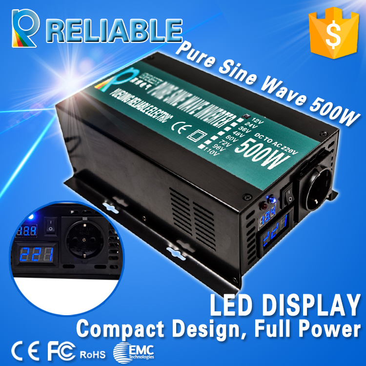 LED display off grid 500W full power dc to ac pure sine wave solar power inverter 1000w Peak power supply DC TO AC converter(China (Mainland))