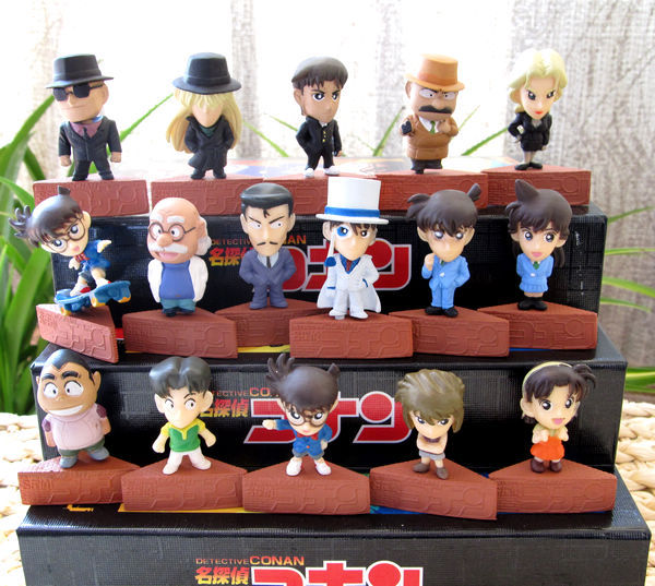 Christmas gift detective conan dolls 16 pcs/lot hand-done toys model free shiping - Be Yourslef Trade Co.,Ltd store