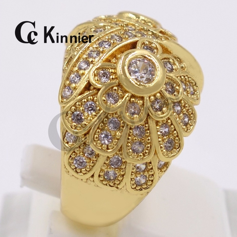Unique Wedding Gifts Dubai : Dubai copper ring unique 18K Gold Plated crystal ring women ...