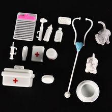 1 مجموعة الديكور لغز البلاستيك شعبية العلوم التربوية لعبة أطفال يلعب دور طبيب ممرضة الطبية المنصوص حالة مصغرة الطفل عدة(China (Mainland))
