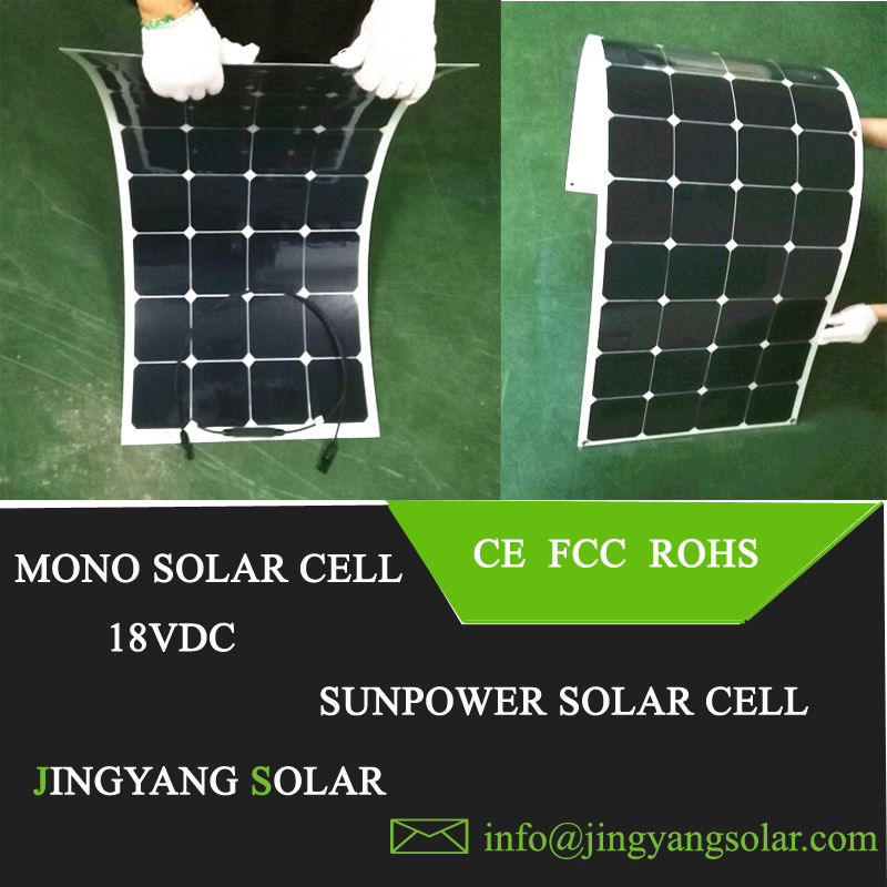Solar Panel Flexible 100W Watt Solar Panel Light Vehicle Yacht 18V Volt Weight(China (Mainland))