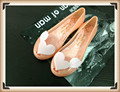 Summer heart wings jelly shoes Women fish mouth flat shoes