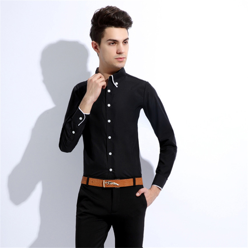Buy fashion new 2015 males striped formal dress shirt for Mens dress shirt sleeve length