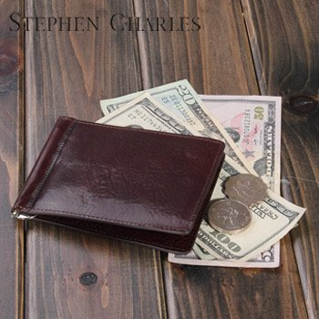 New Brand Name/ Free Shipping +leather money clip wallet/ leather Bifold Wallet /100% Italian Leather/brand wallet  W12QB0005-3