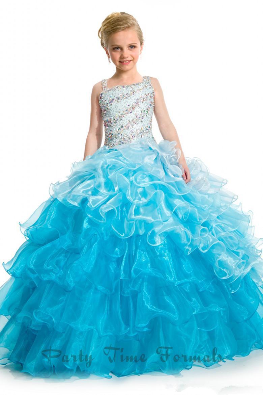 Dresses for little girls floor length pageant dresses for girls size